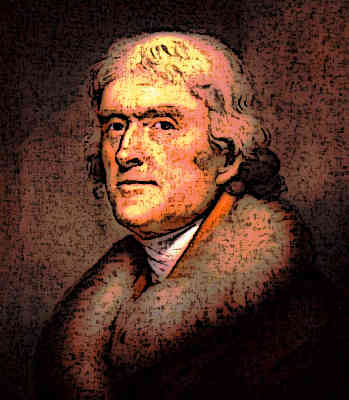 Thomas Jefferson Founding Father 3rd President of America Portrait Painting