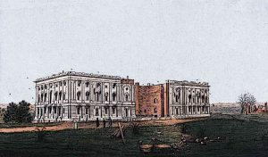 1800 Washington D.C. becomes the capital of USA The white House Construction