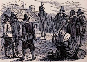 Colonization of America Indian Chief visits an English Colony