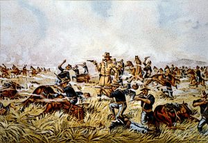 General Custer Massacre At Little Big Horn Montana June 1876