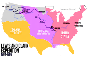 Lewis and Clark Expedition Map