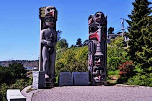 Native American Indians totem poles