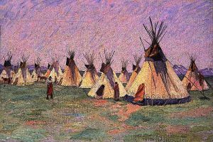Tepees on the Prairie 1902