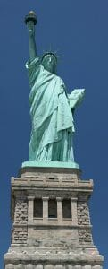 Statue-of-Liberty-frontal-As-viewed-from-the -ground-on-Liberty-Island