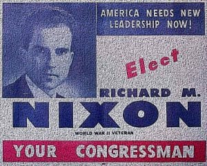 Richard Nixon Presidential Campaign flyer 1946