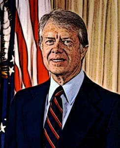 Jimmy Carter Portrait American Presidents List