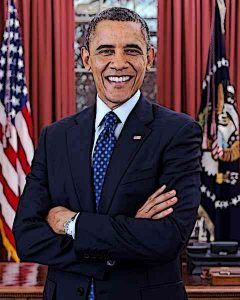 President Barack Obama is photographed during a presidential portrait