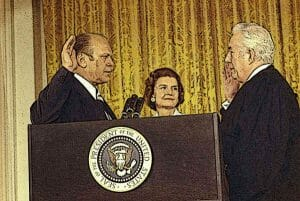 President Gerald Ford Being Sworn in as American President