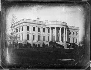 White House Earliest Photograph the White House 1846